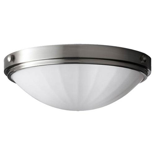 Feiss Perry Brushed Steel Two-Light Indoor Flush Mount Fixture