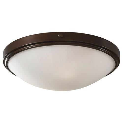 Feiss Perry Heritage Bronze Two-Light Flush Mount Fixture