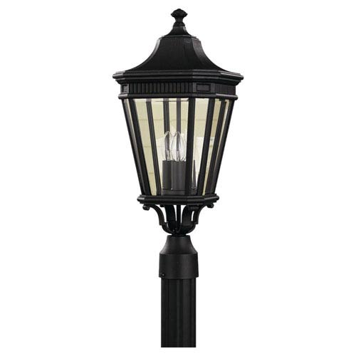 Feiss Cotswold Lane Black Outdoor  Three-Light Post Light