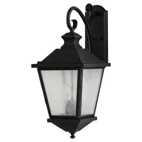 Feiss Woodside Hills Black Three-Light Outdoor Wall Lantern Light
