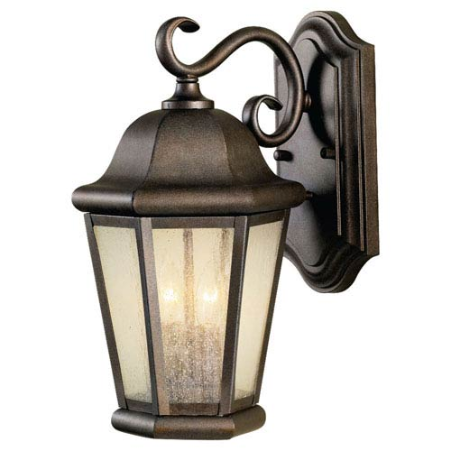 Feiss Martinsville Corinthian Bronze Two-Light Outdoor Wall Lantern Light