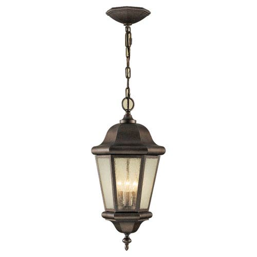 Feiss Martinsville Corinthian Bronze Three-Light Outdoor Pendant