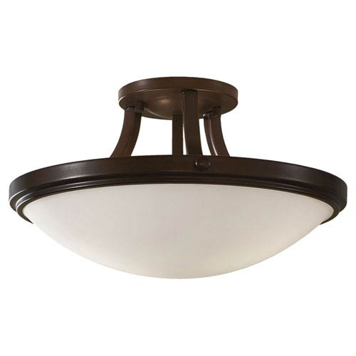 Feiss Perry Heritage Bronze Two-Light Semi Flush Light