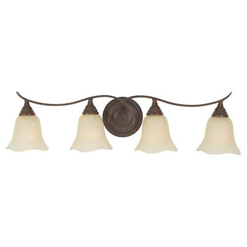 Feiss Morningside Grecian Bronze Four-Light Vanity Fixture