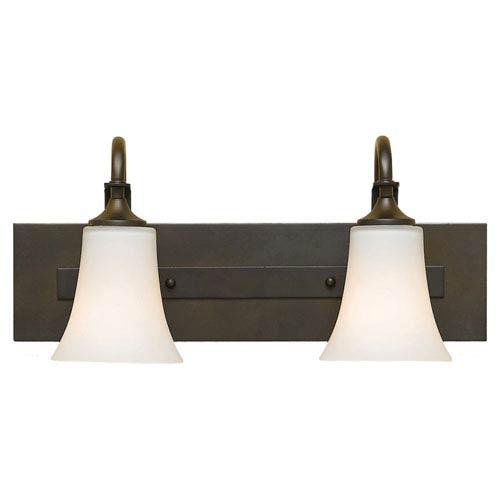 Feiss Barrington Oil Rubbed Bronze Two-Light Vanity Fixture