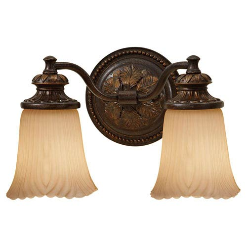 Feiss Emma Grecian Bronze Two-Light Vanity Strip