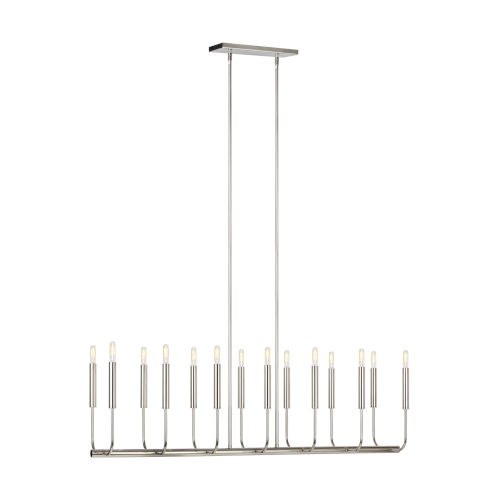 Brianna Polished Nickel 10-Inch 14-Light Mini Chandelier