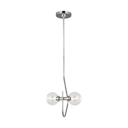 Verne Polished Nickel Two-Light Title 24 Mini Pendant
