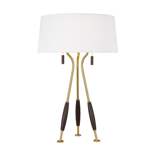 Arbur Burnished Brass Two-Light Title 24 Table Lamp
