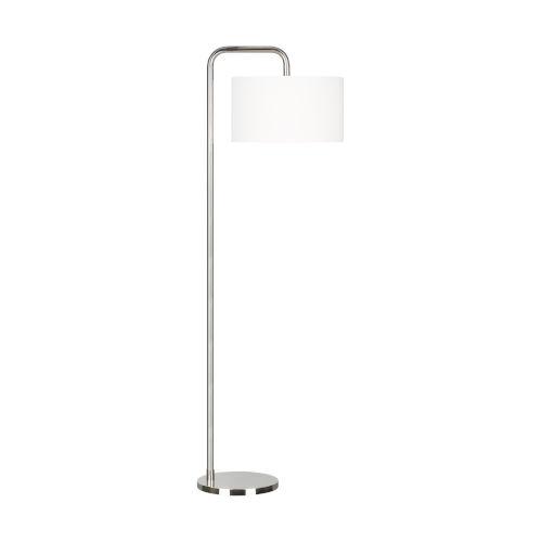 Dean Polished Nickel One-Light Title 24 Floor Lamp