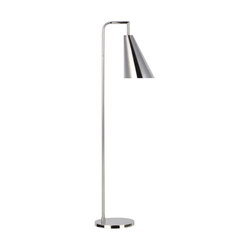 Jamie Polished Nickel 12-Inch One-Light Title 24 Floor Lamp