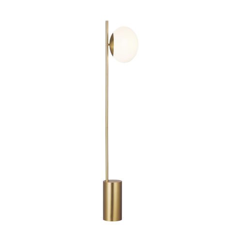 Lune Burnished Brass One-Light Title 24 Floor Lamp