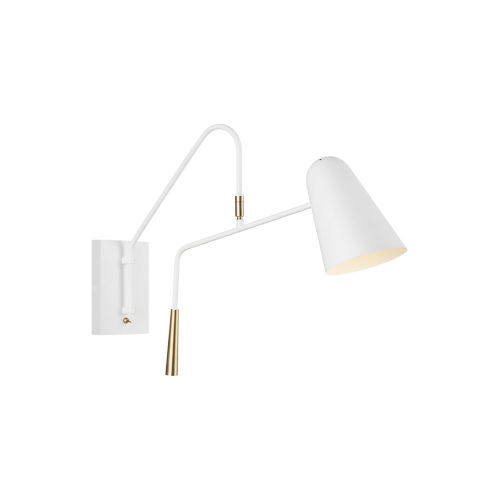 Simon Matte White Five-Inch One-Light Wall Sconce