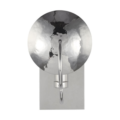 Whare Polished Nickel One-Light Title 24 Hammered Bath Vanity