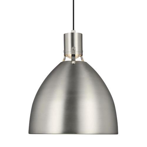 Brynne Satin Nickel 17-Inch LED Pendant