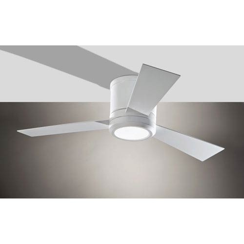 Clarity Ii Rubberized White 42 Inch Led Hugger Ceiling Fan