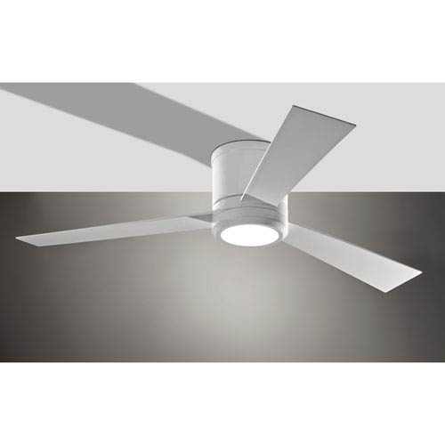 Hugger ceiling fans free shipping bellacor clarity rubberized white 52 inch led hugger ceiling fan aloadofball Images