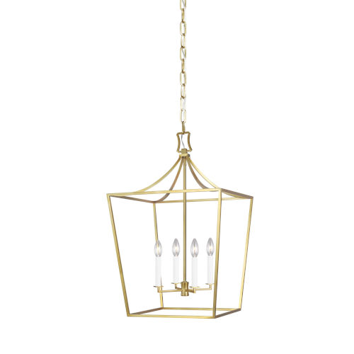 Southold Burnished Brass 18-Inch Four-Light Chandelier