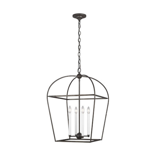 Stonington Smith Steel 18-Inch Four-Light Chandelier