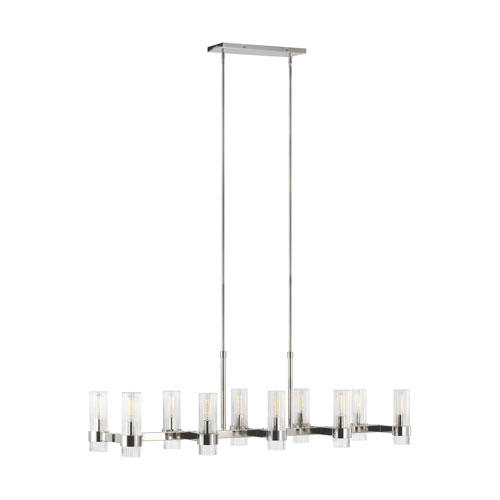 Geneva Polished Nickel 10-Light Chandelier