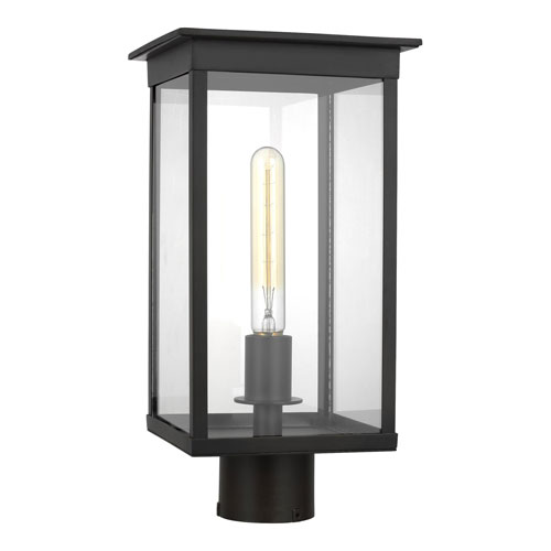 Freeport Heritage Copper Black Eight-Inch One-Light Outdoor Post Mount