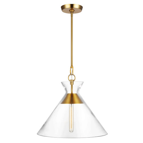 Atlantic Burnished Brass 18-Inch One-Light Pendant
