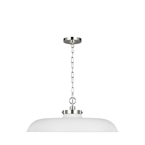 Wellfleet Matte White 26-Inch One-Light Pendant