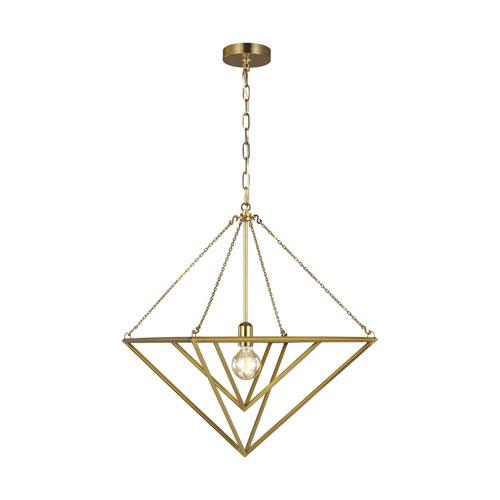 Carat Burnished Brass 20-Inch One-Light Pendant