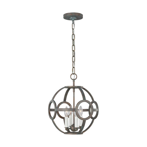 Green Park Iron Port 13-Inch Four-Light Pendant