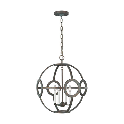 Green Park Iron Port 21-Inch Four-Light Pendant