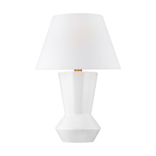 Abaco Arctic White 17-Inch LED Table Lamp Title 24