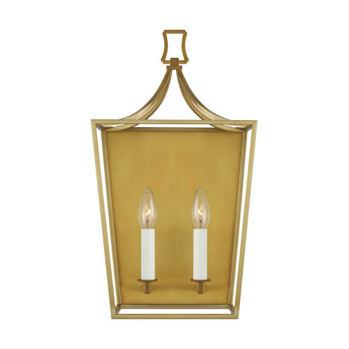 Southold Burnished Brass 10-Inch Two-Light Wall Sconce