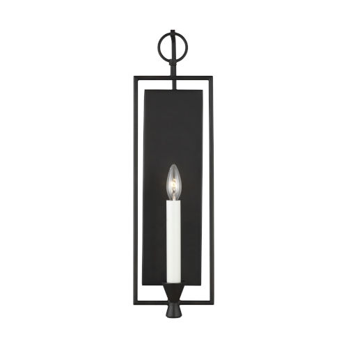 Keystone Aged Iron Six-Inch One-Light Wall Sconce