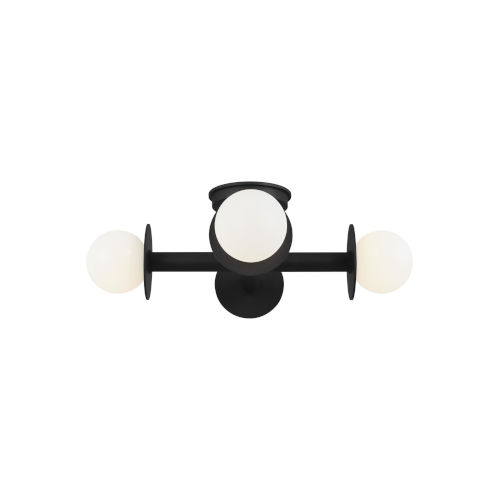 Nodes Midnight Black Four-Light Flush Mount