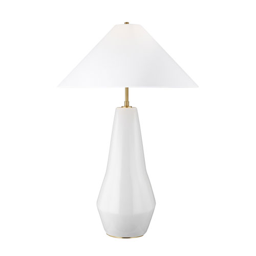 Contour Arctic White 21-Inch LED Table Lamp
