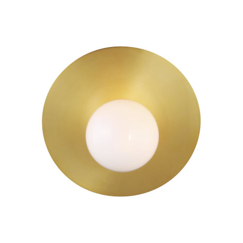 Nodes Burnished Brass 8-Inch One-Light Wall Sconce