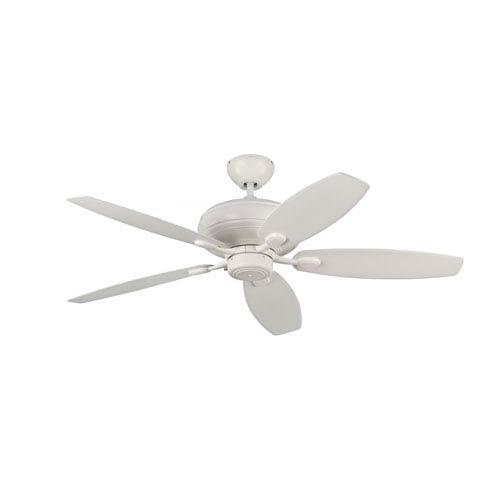 Centro Max Rubberized White 52-Inch Ceiling Fan