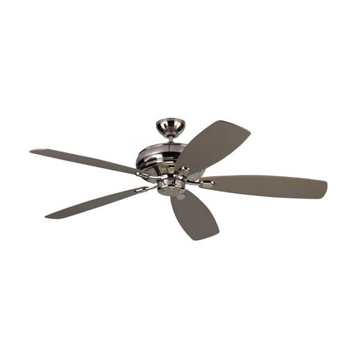 Monte Carlo Embassy Max Polished Nickel 60-Inch Ceiling Fan