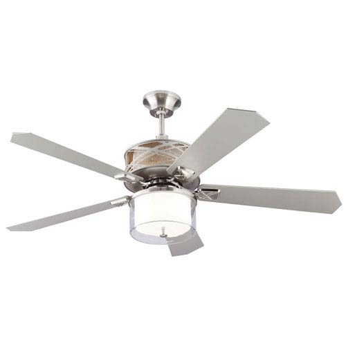 Piper Brushed Steel 54-Inch LED Ceiling Fan