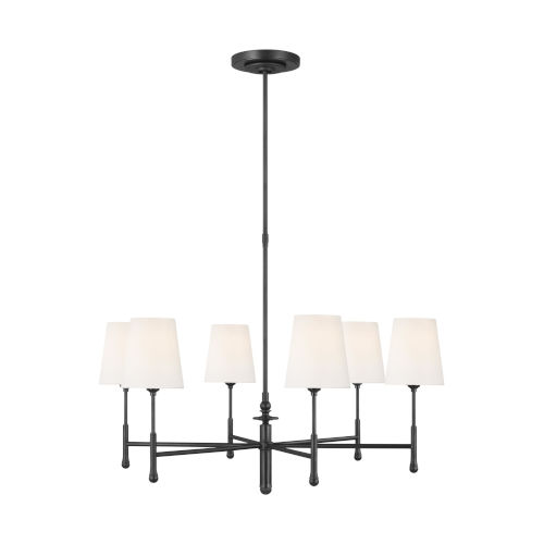 Capri Aged Iron 34-Inch Six-Light Chandelier