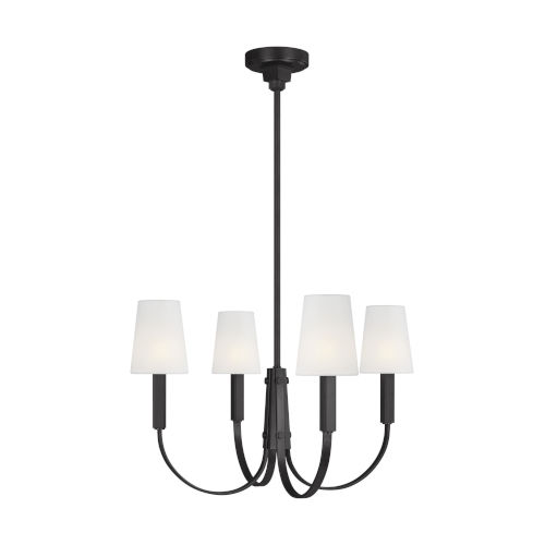 Logan Aged Iron 26-Inch Four-Light Chandelier