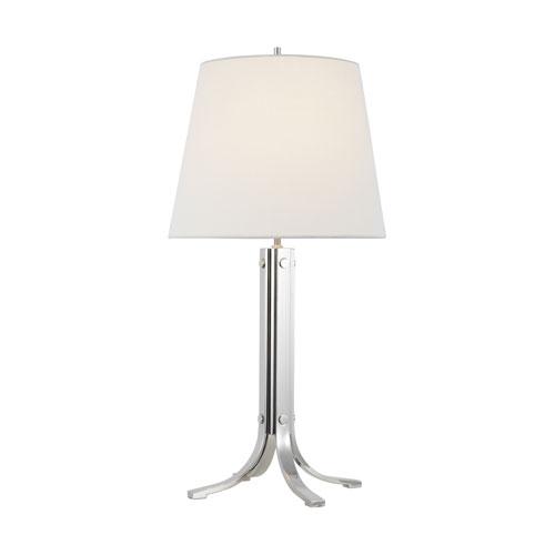 Logan Polished Nickel One-Light LED Table Lamp