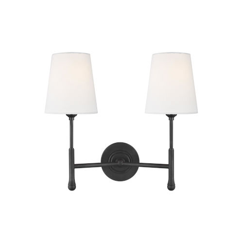 Capri Aged Iron 16-Inch Two-Light Wall Sconce