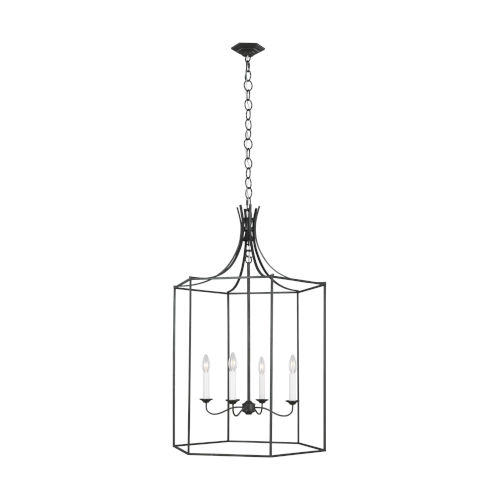 Bantry House Smith Steel 24-Inch Four-Light Title 24 Pendant