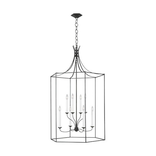 Bantry House Smith Steel Eight-Light Title 24 Chandelier