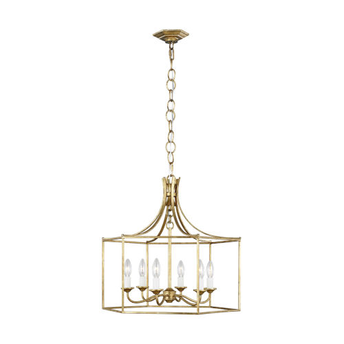 Bantry House Antique Gild Six-Light Title 24 Chandelier