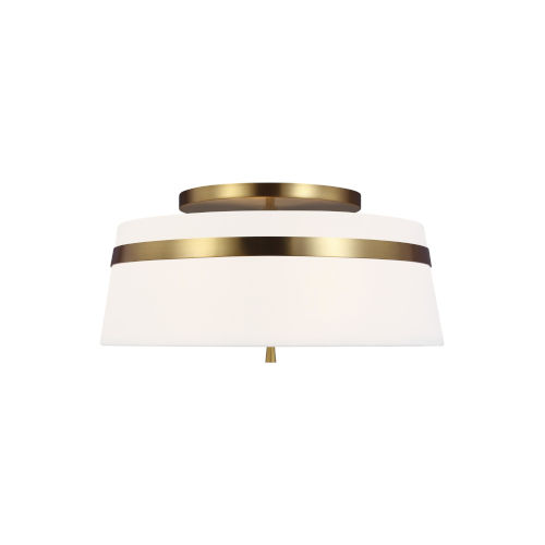 Cordtlandt Burnished Brass 19-Inch Three-Light Title 24 Semi-Flush Mount