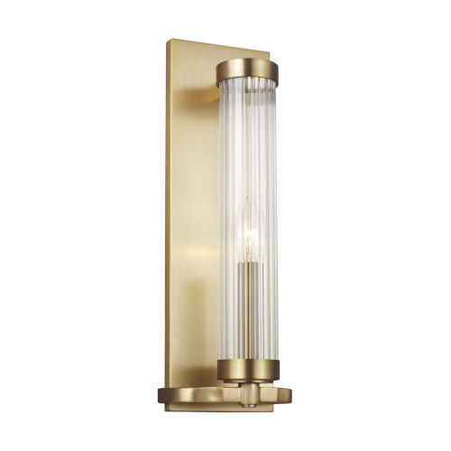 Demi Burnished Brass Five-Inch-Inch One-Light Bath Sconce
