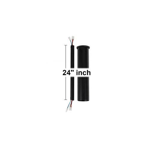Minimalist Matte Black 24-Inch Downrod