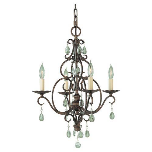 Feiss Chateau Convertible Four-Light Chandelier
